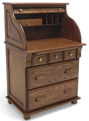 Solid Oak Roll Top Scholar's Desk