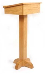 Solid Red Oak Pedestal Speaker's Stand