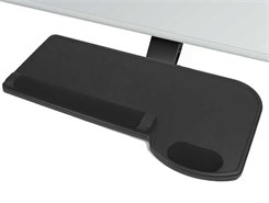 Soft Touch Articulating Keyboard Shelf With Mouse Area