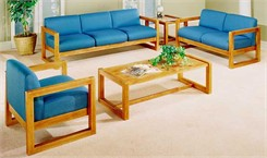 Solid Wood Box Frame Reception Seating Group