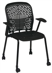 SpaceFlex Guest Chair w/ Casters & Armrests