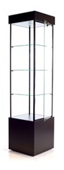 QuickShip Square Tower Display Case