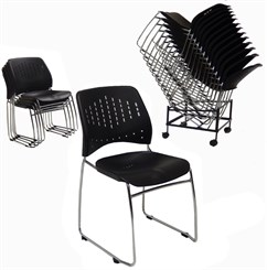 300 lb. Capacity Premium Ganging Stacking Chair
