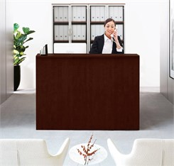 Classic Custom Standing Height Reception Desk - 5'W