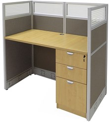 """48""""W Value Series Cubicles - 48""""W x 24""""D x 48""""H Starter Cubicle"""