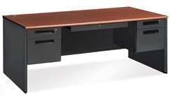 Steel Double Ped Executive Desk