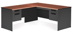 Steel L-Executive Desk w/ Left Return