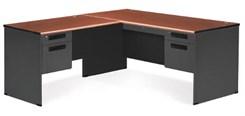 Steel L-Executive Desk w/ Left Return