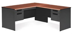 Steel L-Executive Desk w/ Right Return
