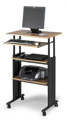 Stand Up Adjustable Height Computer Workstation