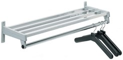 Steel Wall-Mount Coat Racks in Five Sizes & Three Colors -- 24&quot; to 72&quot;