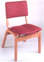 Stackable Wood Half Back Chair