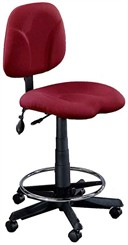 Swivel Task Stool w/ Inflatable Lumbar and 23&quot; to 33&quot; Seat Height