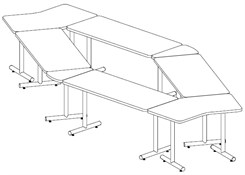 Diamond Shape Conference Table Package