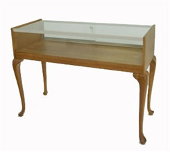 QuickShip Tabletop Display Case with Queen Anne Legs