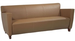Office Star SL8873 Taupe Leather Sofa