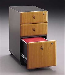 Three Drawer Locking Mobile File