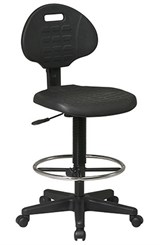 "Tough Skin Urethane Stool w/ 18"" to 25-1/2"" Seat Height"