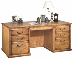 Traditional Genuine Oak Furniture Series - 68-1/4&quot;W Executive Desk
