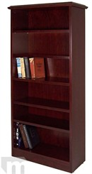 Traditional Heavy Duty Dark Cherry Bookcase
