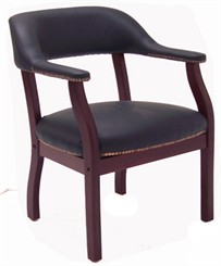 Traditional Leather Guest/Reception Chair