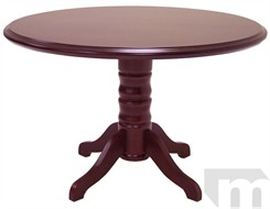 Traditional Dark Cherry Round Discussion Table