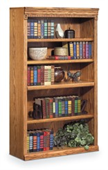 "Traditional Oak 60"" Bookcase"