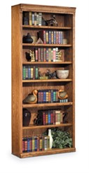 "Traditional Oak 84"" Bookcase"