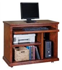 Traditional Oak Computer Cart