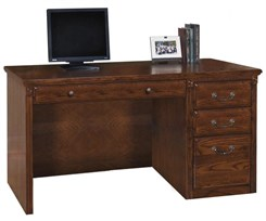 "55""W Traditional Oak Desk"