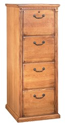 Traditional Oak Four Drawer File