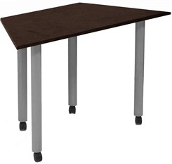 "Mobile 48""x24"" Trapezoid Meeting/Training Table"