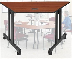 Mobile Trapezoid Training Tables