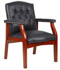 Traditional Arm Chair in Leather
