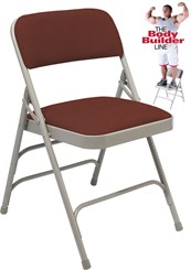 Triple Brace Fabric Padded Steel Folding Chair