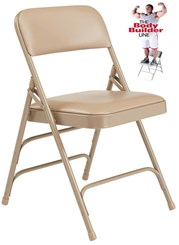 Triple Brace Vinyl Padded Steel Folding Chair