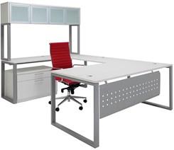 TrendSpaces U-Shaped Workstation w/Hutch
