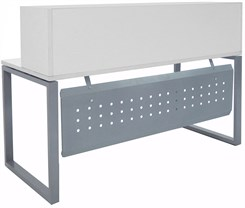 "TrendSpaces White Reception Desk - 66"" Wide"