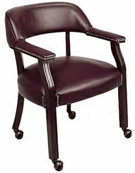 Traditional Guest Chair with Casters