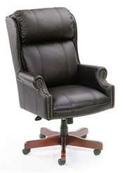 Traditional High Back Swivel Chair
