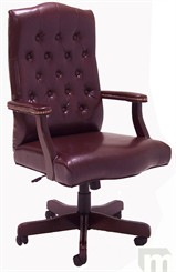 Traditional Leather Swivel Office/Conference Chair