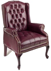 Traditional Wing Back Guest Chair
