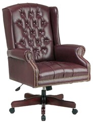 Traditional Wing Back Swivel Chair