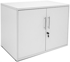 White Two Door Locking Storage Unit