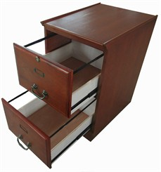 Y10798 Cherry Two Drawer File Cabinet