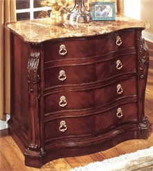 Two Door Lateral File w/Marble Top