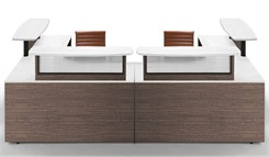 Two Person Custom U-Shaped Reception Desk