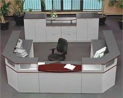 Impressions Two Person Custom Reception Desk
