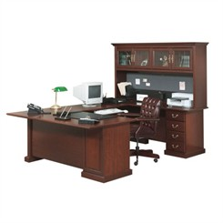 Heritage Hill U-Shaped Desk with Hutch