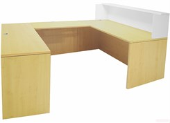 Maple/White U-Shaped Reception Desk